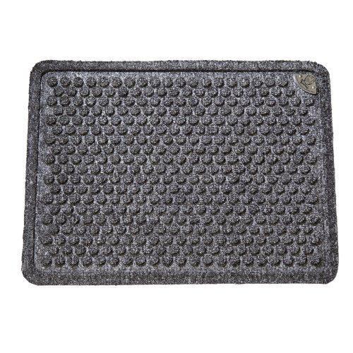 Dr. Doormat Antimicrobial Treated Doormat 18-Inch by 24-Inch, Charcoal Gray by Dr. Doormat. $29.99. Doormat is framed with a raised, inch wide border that forms a tray trapping water and dirt. Durable, flexible, industrial strength, rubber backing with molded rubber nibs reduces mat movement. Surface area is made of the highest quality stain resistant recycled and virgin polypropylene fiber using non-toxic resin and pigment. Allergy friendly, made in the USA, wash...