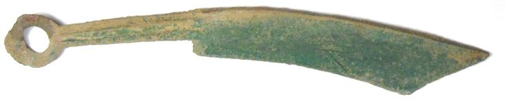 Pointed                  tip knife money cast by State of Yan during Spring and                  Autumn Period of Zhou Dynasty