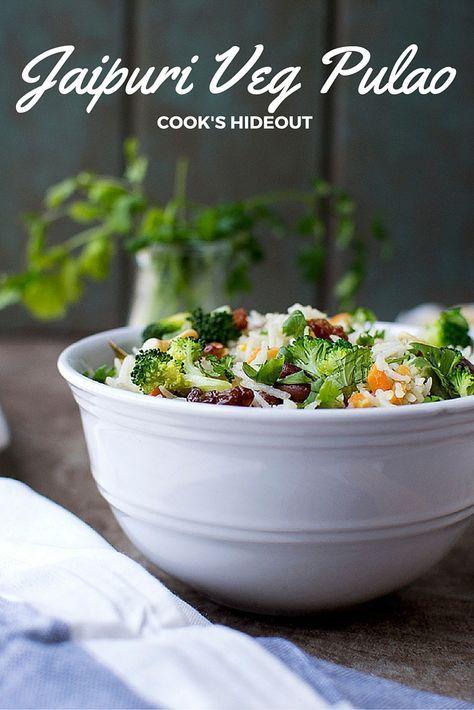 Jaipuri Veg Pulao -- Cook's Hideout.