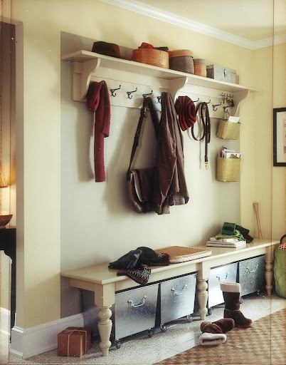 Looking for entryway storage for grandkids and us that the dog cannot get to for easy shoe chewing...