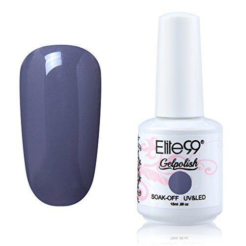 Elite99 Soak-off Gel Polish Lacquer Nail Art UV LED Manicure Varnish 15ml Slategray 1844