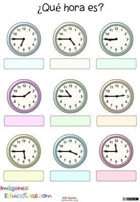 Trabaja las horas y los relojes  (15)