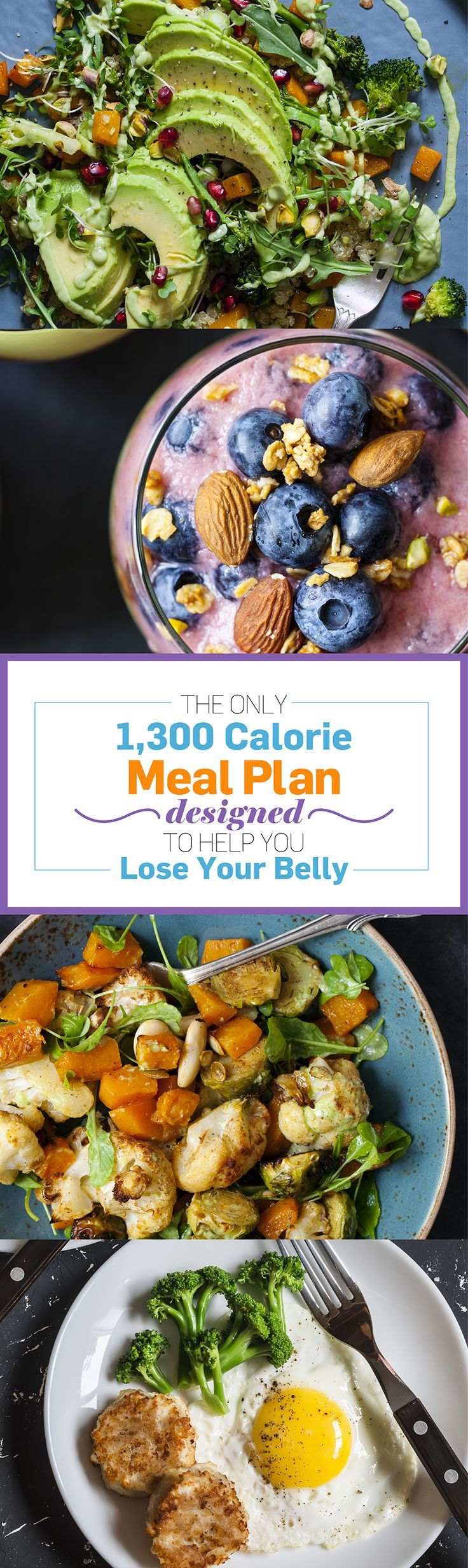 Here you'll find some of our favorite weight loss recipes to get you through the week. Each day (complete with three healthy meals) comes out to under 1,300 calories, which you can add to with any of our flat-belly approved snacks.