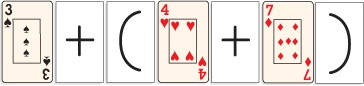 **Guided Practice: students get in groups of 2 and use cards on paper to show different ways how to make that specific number/ equation  Associative Properties