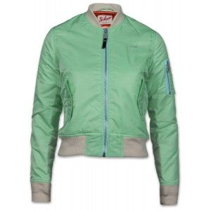 Schott NYC JKTACW Damen Jacke hellgrün