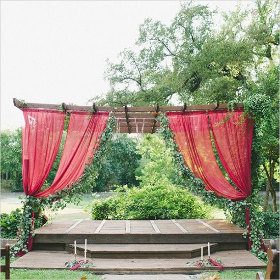 Outdoor Ceremony Altar: 1000+ Ideas About Outdoor Wedding Altars On Pinterest