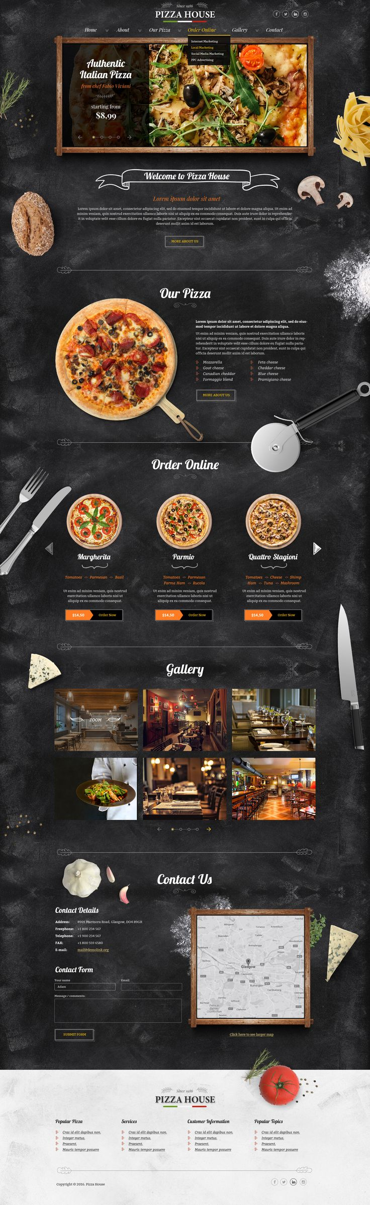 Bootstrap Website template for Pizzeria. tags: pizza website template, pizza templates, pizzeria website templates, template pizza, pizza site template, pizza restaurant website templates, restaurant website templates, restaurant template, template restau