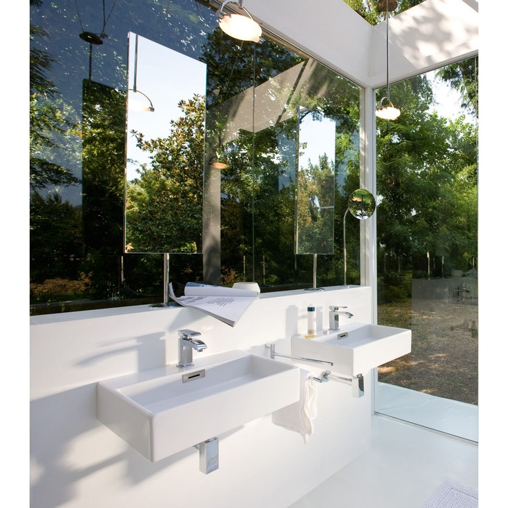 Linea Quarelo Vessel Sink in White by WS Bath Collections