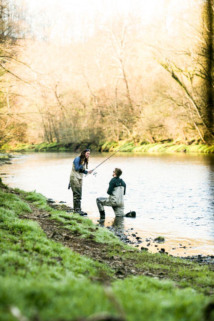 Best proposal ever. Fly fishing!   http://www.janelleelise.com/