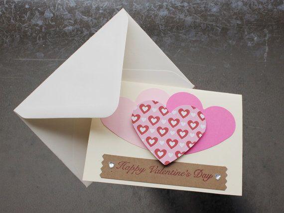 Happy Valentine's Day Card by LYHHandmadeGifts on Etsy