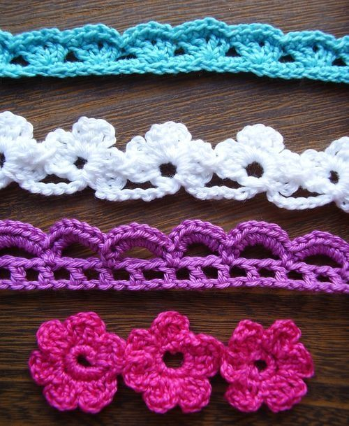 Free Crochet Flower Edging Pattern : Crochet flowers and lace trim tutorials! My favorite ...