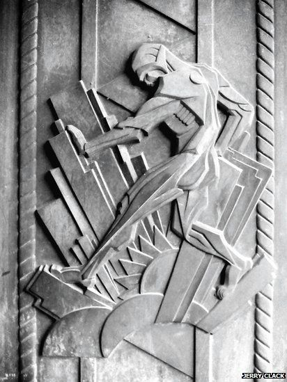 UK Art deco: Bas relief at Battersea Power Station in London.