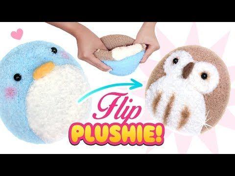 (16) DIY VIRAL REVERSIBLE PLUSHIE!!! Owl & Penguin Sock Plush - Cute Budget Xmas Gift Ideas - YouTube