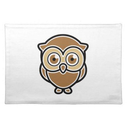 Owl Cloth Placemat - barn gifts style ideas unique custom