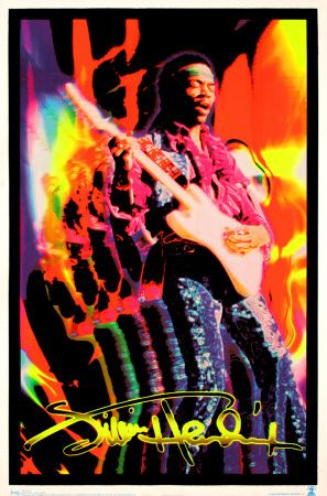 Jimi Hendrix.   Click to buy this Blacklight Poster!