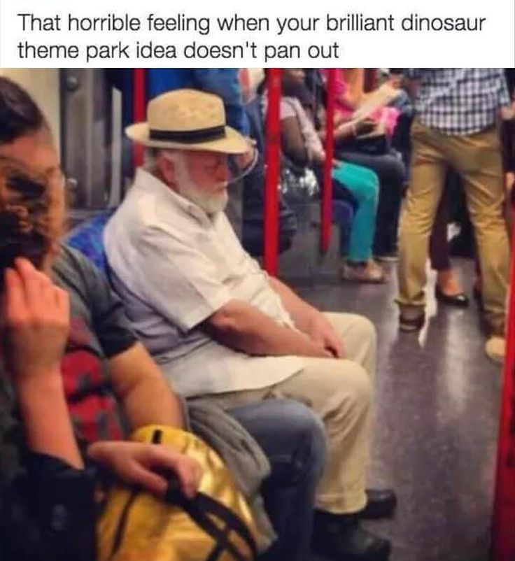 Humour, Dinosaur, Meme, Image : That horrible feeling when your brilliant dinosaur theme park idea doesn't pan out