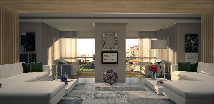 Living room interior designed by decades+