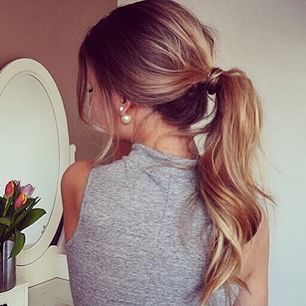 one perfect ponytail