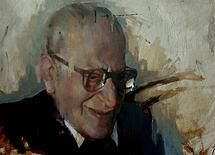Portrait of Gustavo Bacarisa (A tribute to Gibraltar's greatest artist) by Christian Hook
