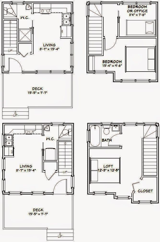652 best garage tiny house floor plans images on pinterest for Small house plans with garage