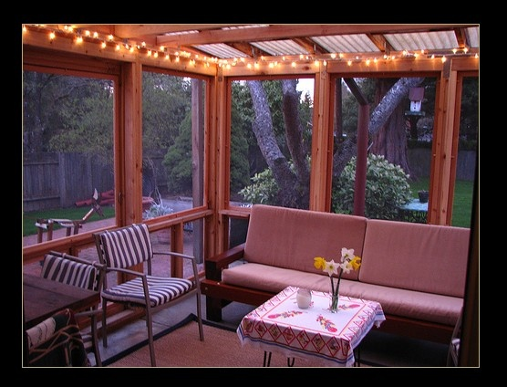 I really want a nice sunroom in our first home I love the addition of the lights  space