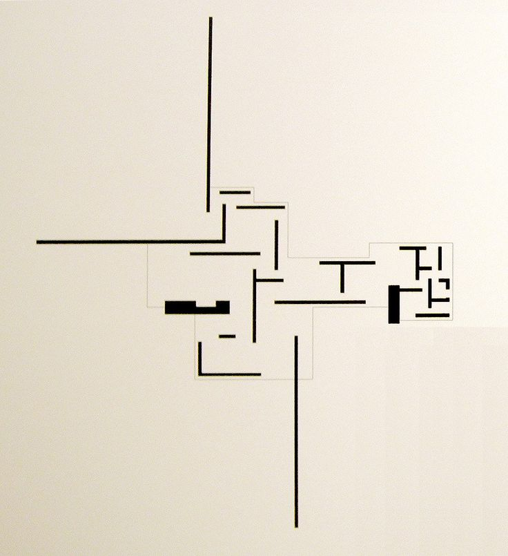 Mies van der Rohe - Brick Country House (1924) [De Stijl influence in plan composition]
