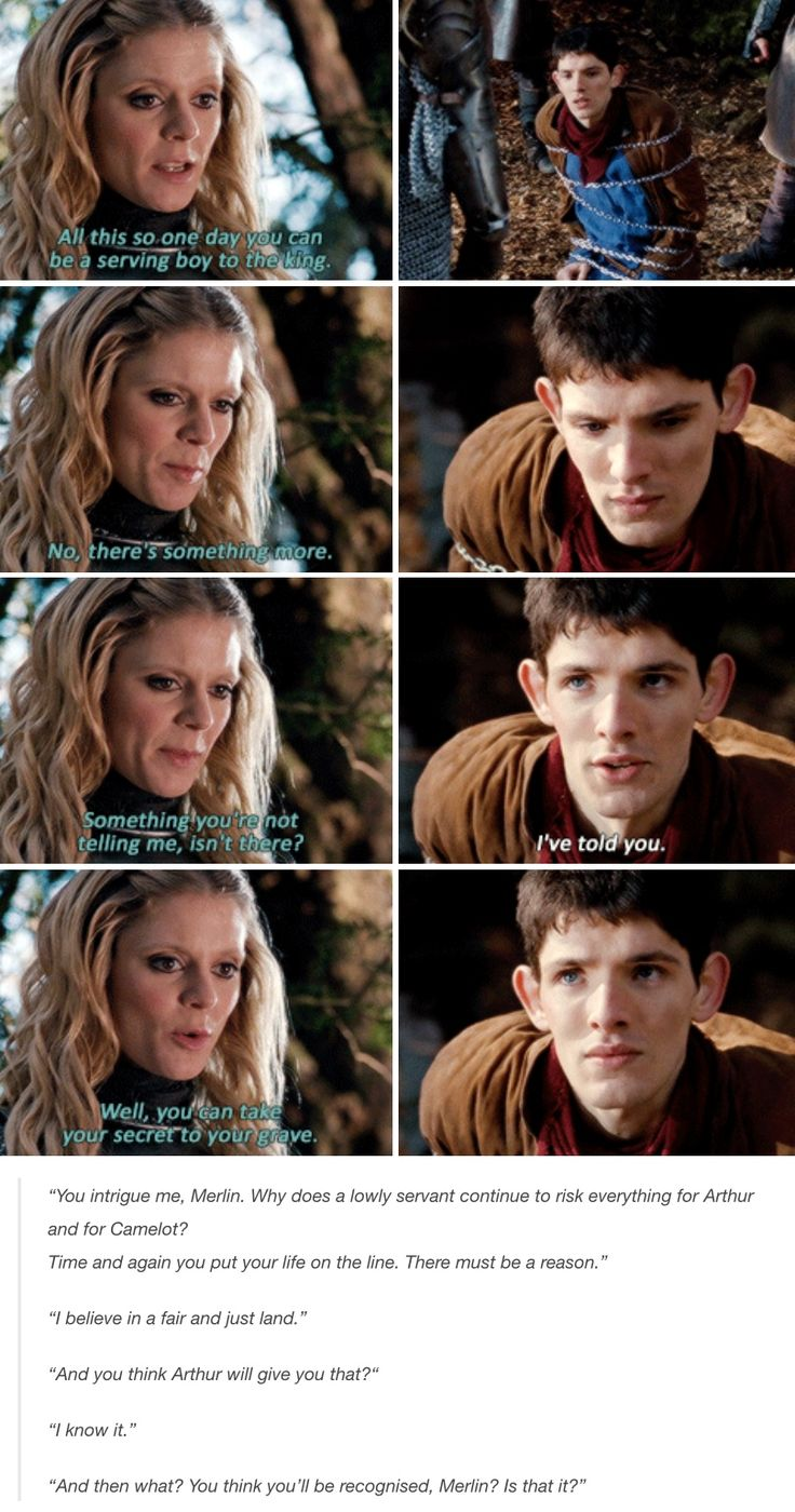 Merlin doesn't want recognition, Morgeause