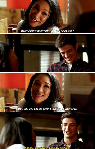 """Speed... has always been my problem"" - Barry and Iris #TheFlash"