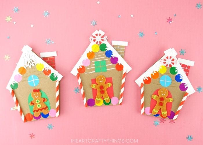 How To Make A Gingerbread House Card For Christmas Homemade Christmas Cards Christmas Coloring Cards Make A Gingerbread House