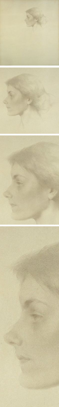 Eye Candy for Today: Thomas Wilmer Dewing silverpoint portrait