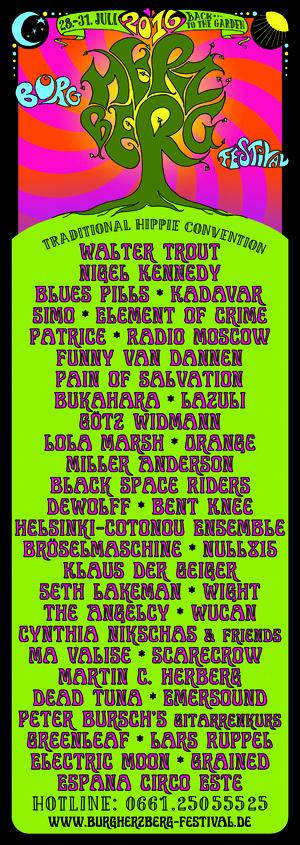 """""""This is the way festivals should be"""" Patti Smith """"Nostalgie-Trip mit Zukunft"""" 3sat, Kulturzeit """"Hippie-Mekka"""" Rolling Stone Magazin """"Die Mutter aller deutschen Festivals"""" musikexpress"""