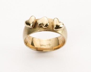 Hjertering - Perlen - Guldsmykker - Perlen