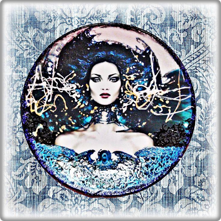 сайт snehok.blogspot.com/ Декупаж,интерьерные тарелки,декор тарелок,Карол Бак,декупаж тарелок,декоративная посуда,подарок,тарелки