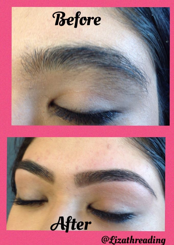Eyebrow Threading Before and After