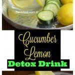Cucumber Lemon Detox Water Drink