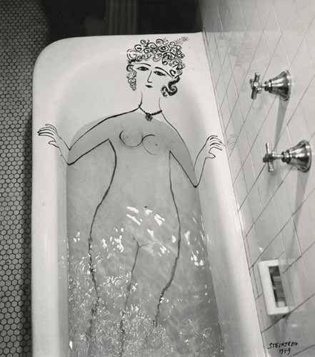 Girl in Bathtub, 1949. Gelatin silver print, 12 3/4 x 11 1/4″. The Saul Steinberg Foundation.