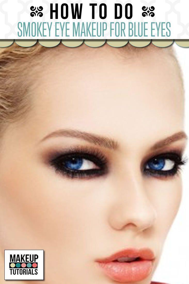 Smokey Eye Makeup Tutorial For Blue Eyes
