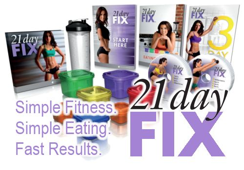 21 Day Fix --> Complete meal plan + 30 min. workouts to fit your busy schedule + support & accountability = NO FAIL PLAN!  This is simply genius. Why didn't anyone think of this before?