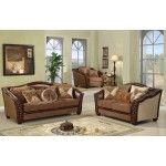 McFerran Home Furnishings - 3 Piece Warm Brown Corner Sofa Set - SF2781-3PC  SPECIAL PRICE: $3,372.50