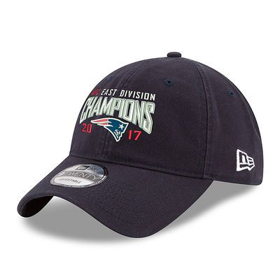 Men's New England Patriots New Era Navy 2017 AFC East Division Champions 9TWENTY Adjustable Hat