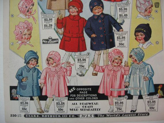 Vintage Sears & Roebuck Catalog Page 1930 by VintageAttitudes