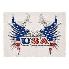 USA with wings, now on Cafepress Set the table with fun when you bring home custom placemats featuring lovable moments or fabulous designs. These placemats make dinnertime extra-special.