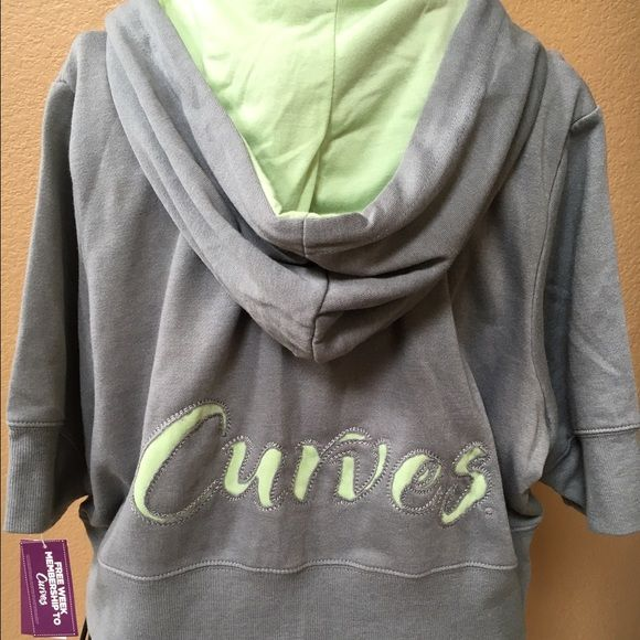 Curves hoodie NWT Curves hoodie. Adorable color and detail to back. Curves Tops Sweatshirts & Hoodies