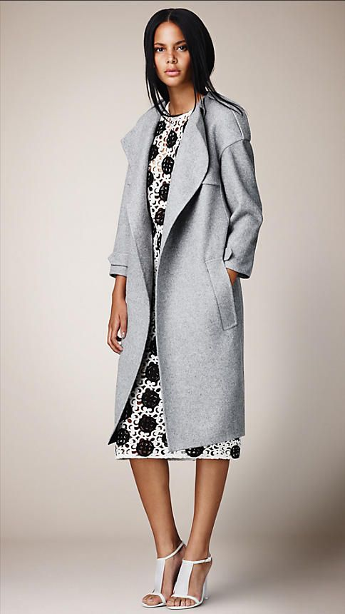 BLOGGED: Buy Burberry's SS14 coats now - these unlined cashmere coats are cardigan-casual...