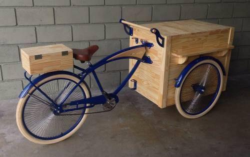 Food Bike Foodbike Foodtruck Vintage Custom Trike - R$ 7.300,00