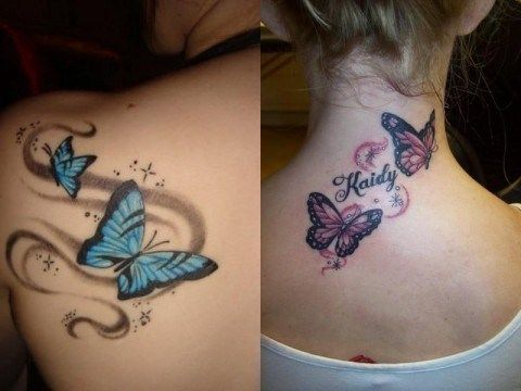 Butterfly Tattoos Designs For Girls 002