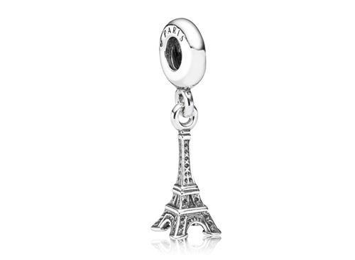 Tenho....tema viagens que fiz Charm de Prata Pendente Torre Eiffel