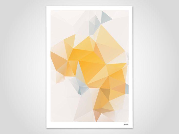Yellowgem / Poster, Kunstdruck, skandinavisch, Bilder, Deko, Papier, Pastell, Berg, geometrisch, minimalistisch, Sterne, Herbst, Weihnachten