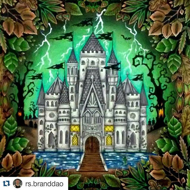 Castle Enchanted Forest Coloring BooksAdult