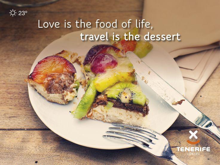 """""""El amor es el alimento de la vida, el viaje es el postre."""" Gastronomía en Tenerife, Islas Canarias // """"Love is the food of life, travel is the dessert."""" Gastronomy in Tenerife, Canary Islands // """"Liebe ist das Essen des Lebens, Reisen ist der Nachtisch."""" Gastronomie auf Teneriffa, Kanarische Inseln #VisitTenerife"""